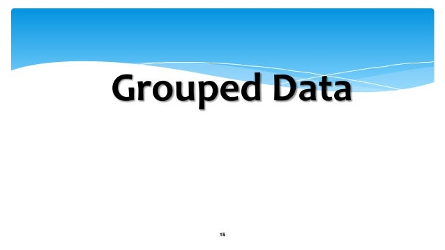 how to find mean of grouped data