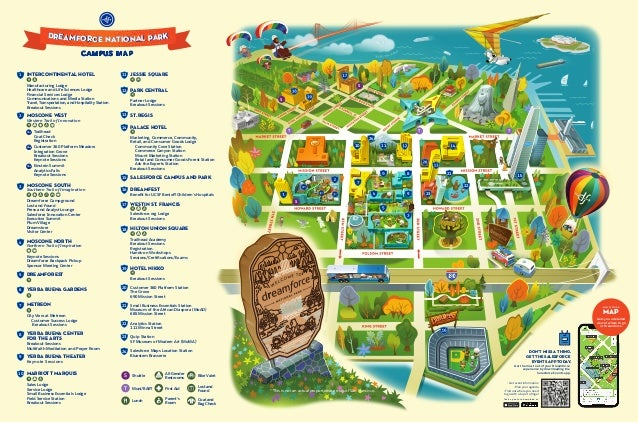 Dreamforce '19 Campus Map on