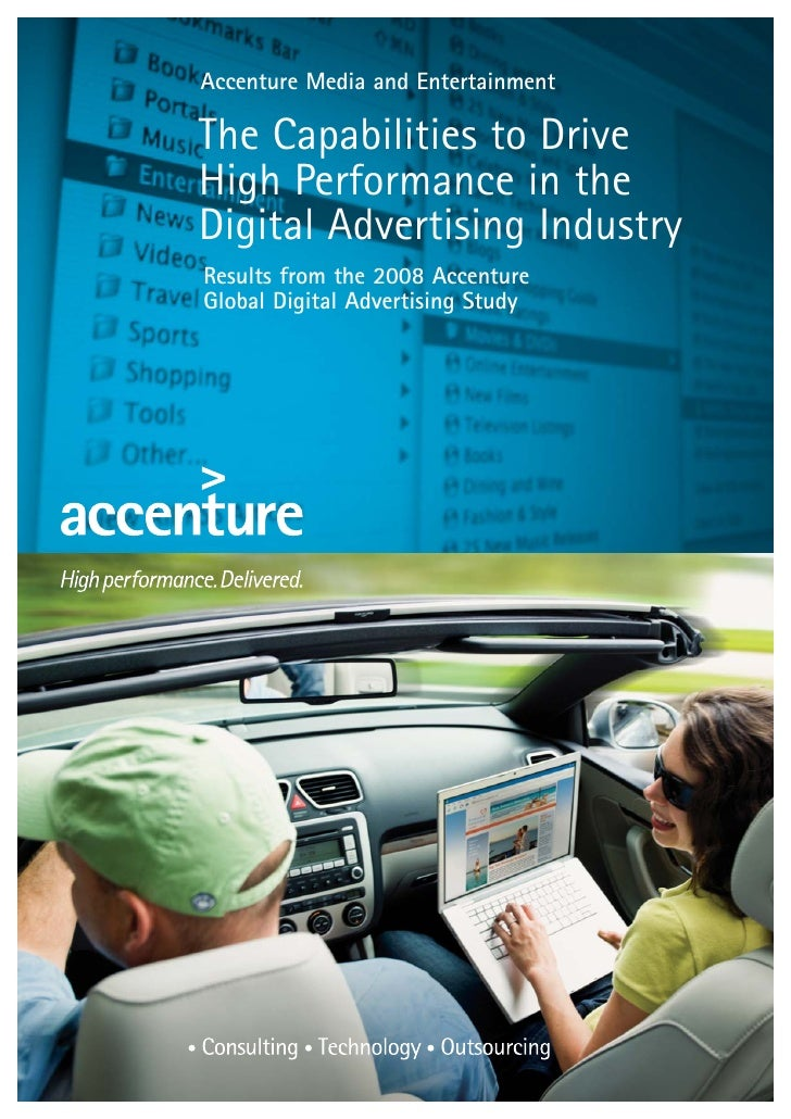 Accenture Media and Entertainment  The Capabilities to Drive High Performance in the Digital Advertising Industry Results ...