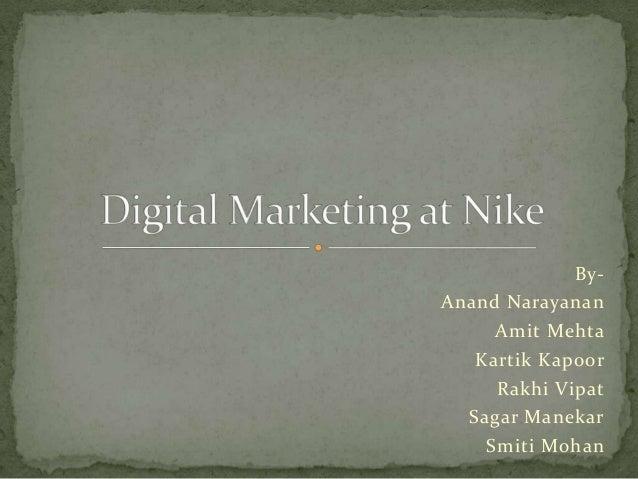 818d9a412c5a Digital marketing of Nike