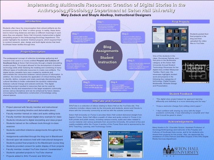 Implementing Multimedia Resources: Creation of Digital Stories in the Anthropology/Sociology Department at Seton Hall Univ...