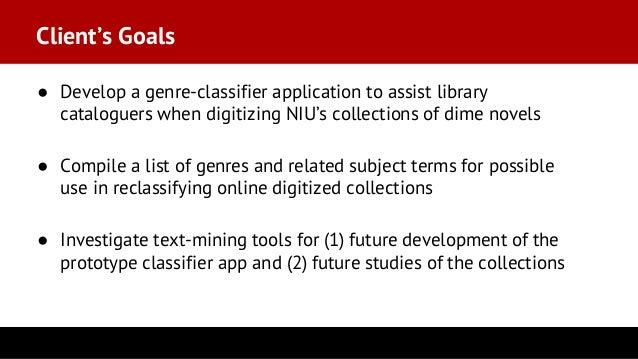 Dime-Novel Genre Classifier: A Prototype Text-Mining Application