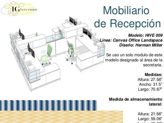 Diseno de oficina modular iris laura guerrero for Medidas de muebles para oficina