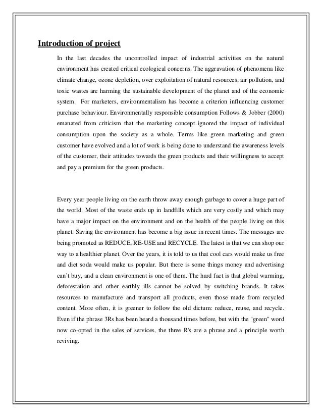 consumer awareness towards green products marketing essay Before talking about green trend or the awareness of environmental-friendliness green marketing in the automobile industry abstract green marketing in automobile industry green marketing is the marketing of products that are presumed to be environmentally green marketing essay example.
