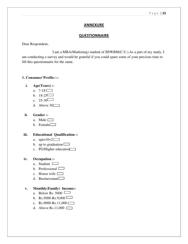 dissertation consumer buying behavior of toothpaste brands in kolkata