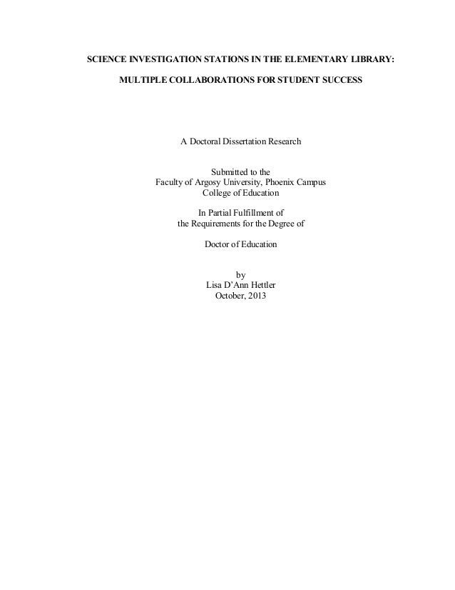 dissertation in library science