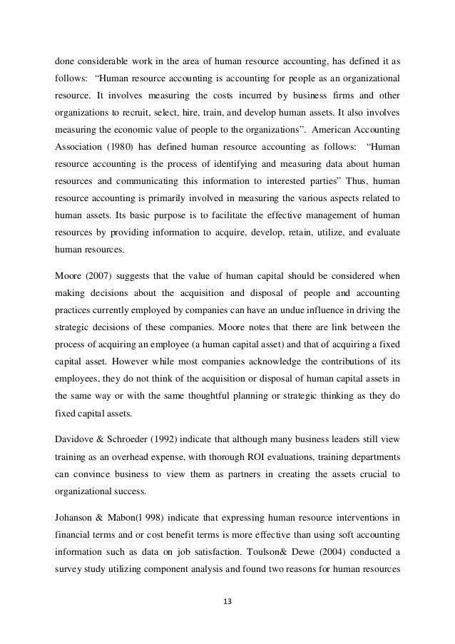thesis on human resource accounting in india Measuring employees value: a critical study on human resources accounting in india vineet chouhan1 assistant professor, school of management, sir padampat singhania university, bhatewer, udaipur rajasthan, india nader naghshbandi.
