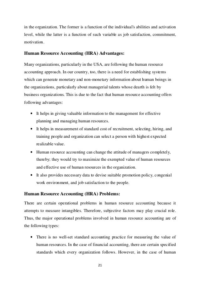 accounting human resource thesis To obtain a masters degree in accounting with thesis and courses, the student must complete 39 units comprising the following a 21 credit units from compulsory courses b 3 credit units from optional courses from accounting department c 6 credit units from outside the accounting department.