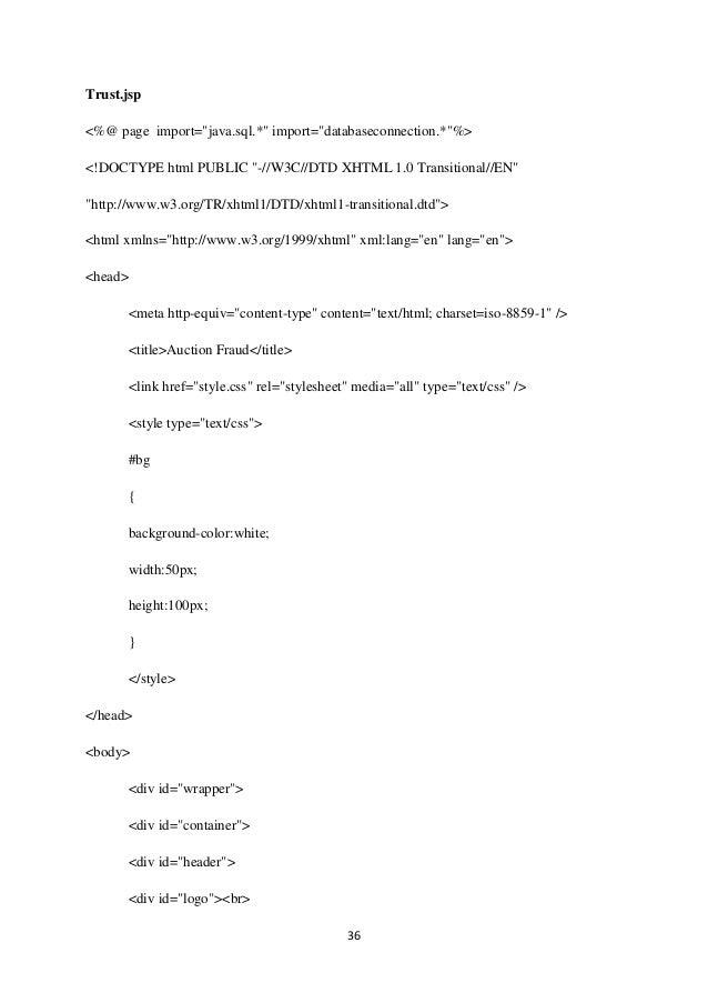 "36 Trust.jsp <%@ page import=""java.sql.*"" import=""databaseconnection.*""%> <!DOCTYPE html PUBLIC ""-//W3C//DTD XHTML 1.0 Tra..."