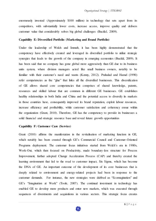 general eletrics case study General electric research papers examine a company that was created by thomas edison and then was taken over by jack welch in the 1980's.