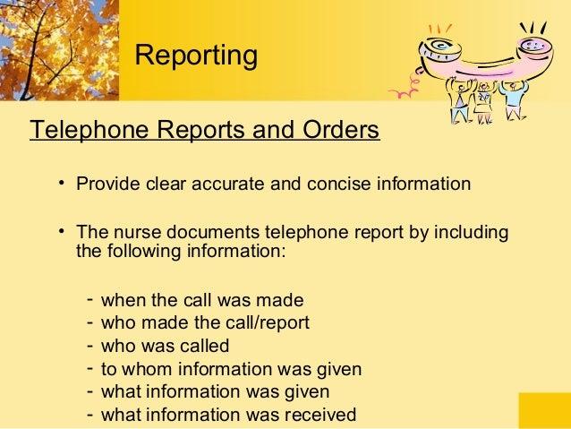 telephone order example