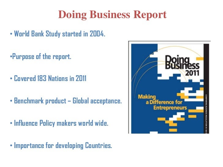 World bank doing business report 2011 silverado