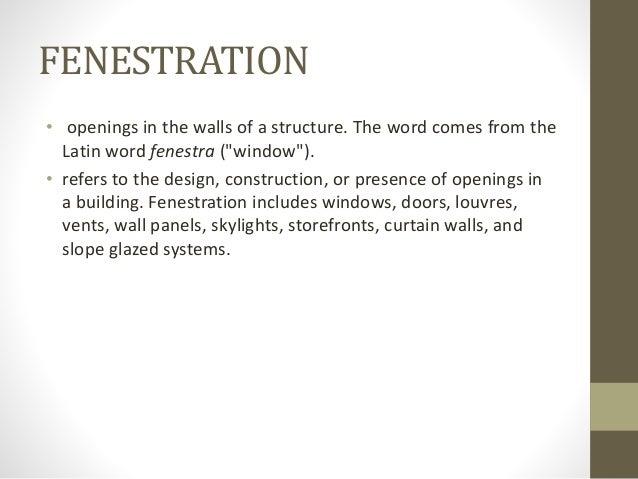 Door Fenestration
