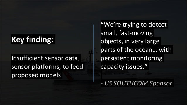 """We're trying to detect small, fast-moving objects, in very large parts of the ocean… with persistent monitoring capacity ..."