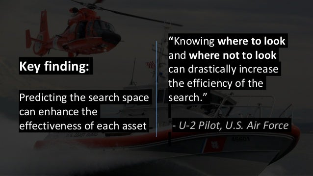 """""""Knowing where to look and where not to look can drastically increase the efficiency of the search."""" - U-2 Pilot, U.S. Air..."""
