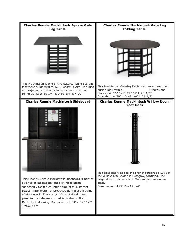 furniture by charles rennie mackintosh. Black Bedroom Furniture Sets. Home Design Ideas