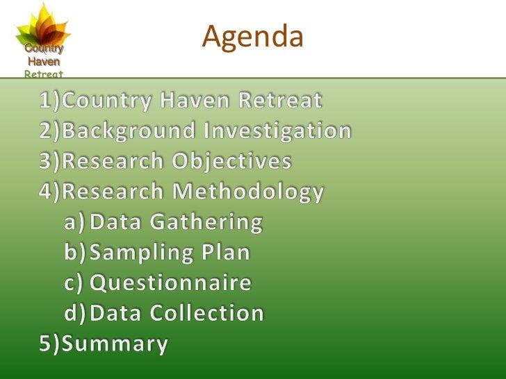 Country   AgendaHavenRetreat