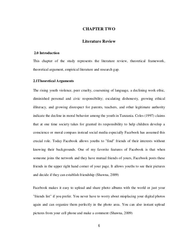 literature review on impact of social networking sites on youth