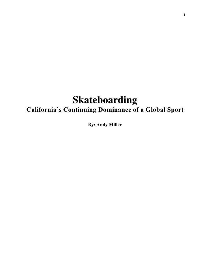 <ul><li>Skateboarding