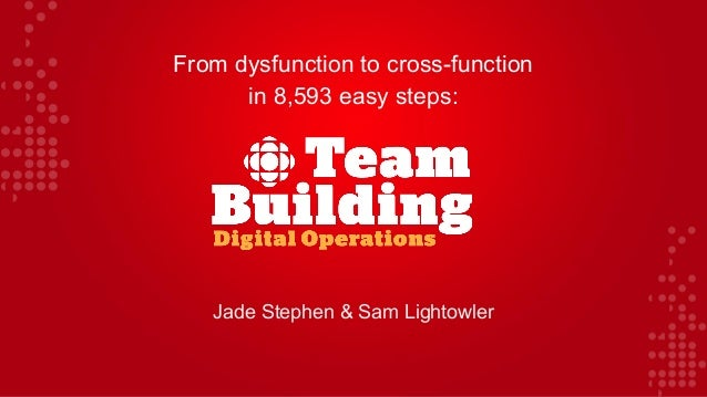 From dysfunction to cross-function in 8,593 easy steps: Jade Stephen & Sam Lightowler