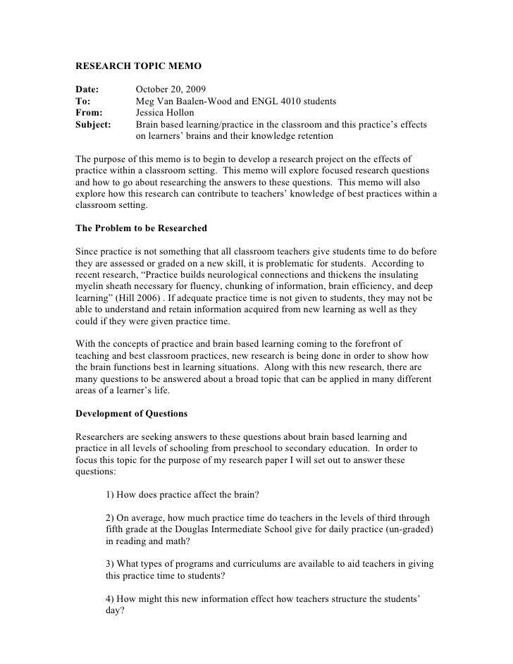 Thesis statement legal memo