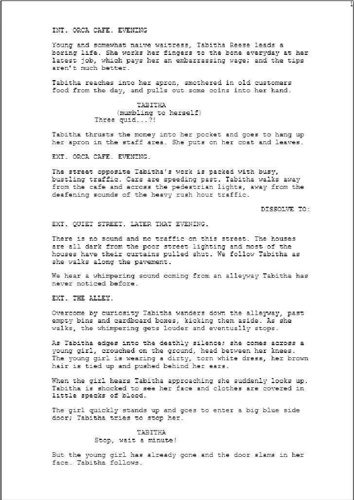 Final Draft Script By Billie Dwyer