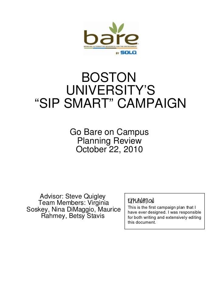 "Boston University's ""Sip Smart"" Campaign"