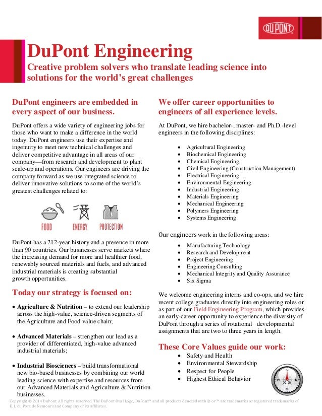 Copyright © 2014 DuPont. All rights reserved. The DuPont Oval Logo, DuPont™ and all products denoted with ® or ™ are trade...
