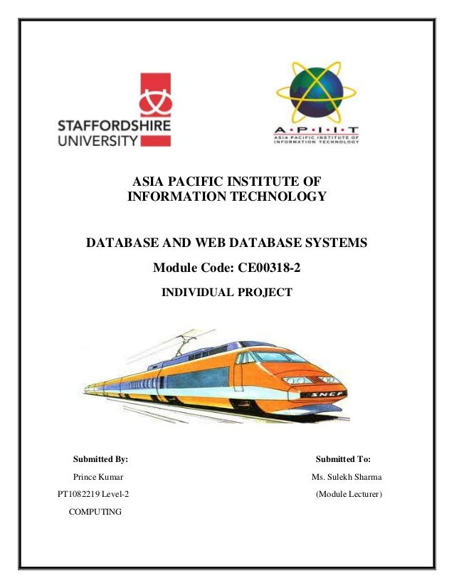 Online Railway Reservation System Project Pdf