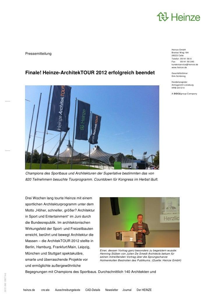 Heinze GmbH                                                                                                               ...