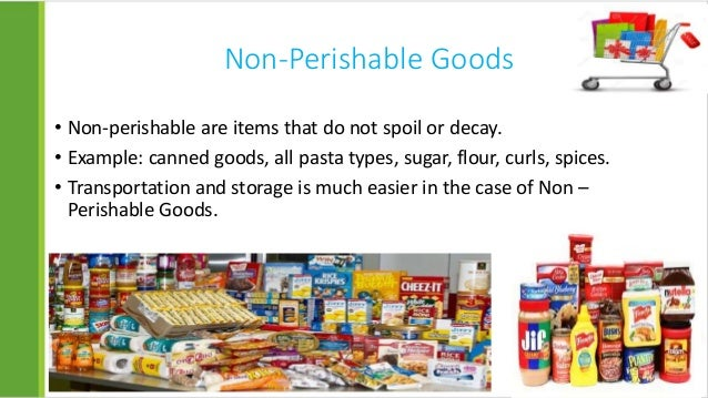 Good Examples Of Non Perishable Foods