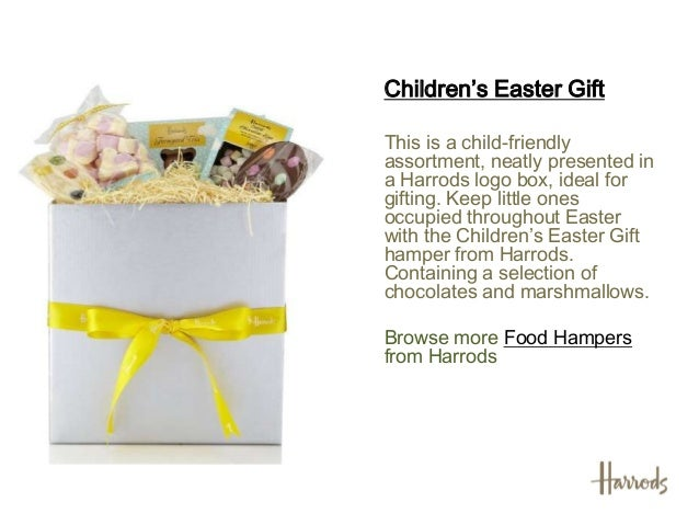 Easter hampers 2013 harrods find more childrens hampersfrom harrods 5 childrens easter negle Image collections