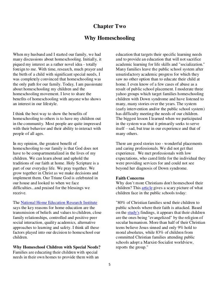 Chapter Two                                           Why HomeschoolingWhen my husband and I started our family, we had   ...