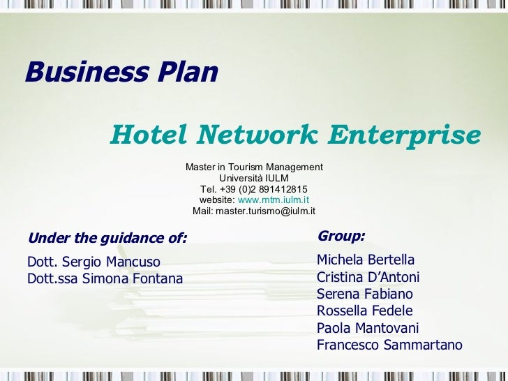 Business plan for hospitality industry
