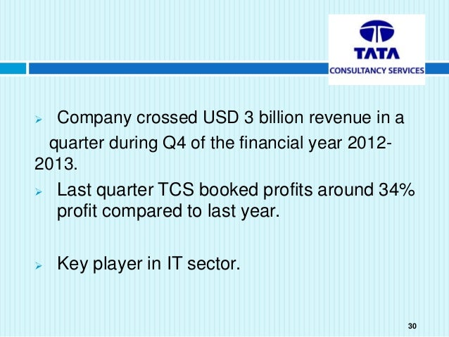 financial analysis on tata consultancy services Get the detailed financial ratios of tata consultancy services ltd at icici direct check out the tata consultancy services ltd financial statements, detailed profit & loss accounts.