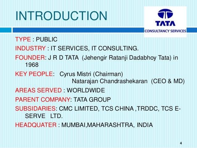 Tcs Company Profile Pdf