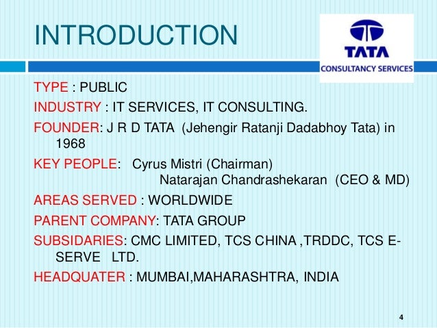 Company Analysis  Tcs Tata Consultancy Services