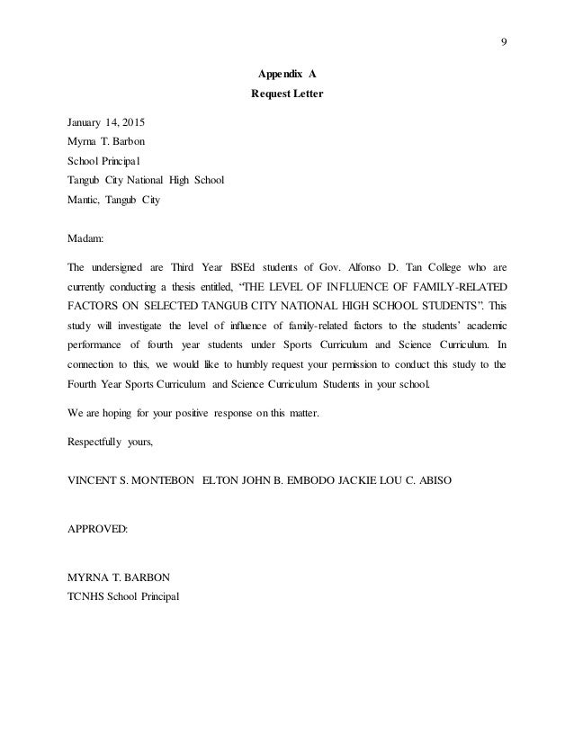 letter granting permission to conduct research