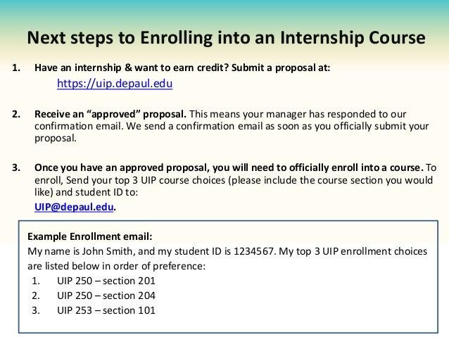 University Internship Program (DePaul UIP) Orientation