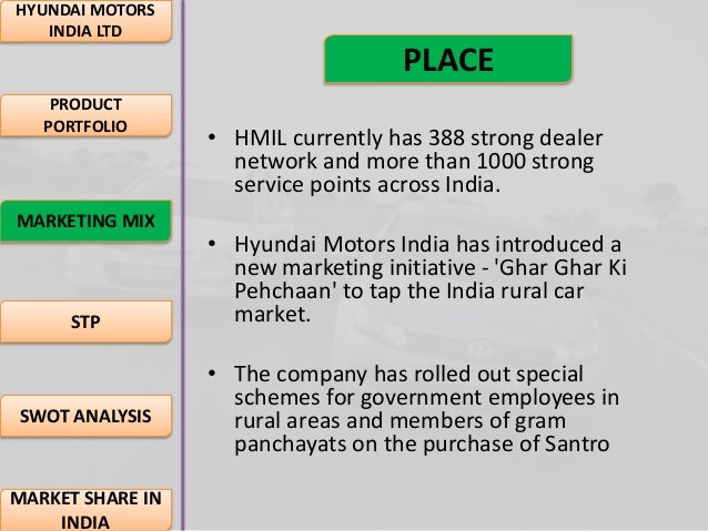 comparitive analysis of hyundai and santro Under study (maruti udyog ltd & hyundai motors india ltd) the criteria of santro,getz, i-10,accent, elantra, sonata embera and tuscon are the comparative analysis of the sample units on the basis of liquidity, profitability  efficiency.