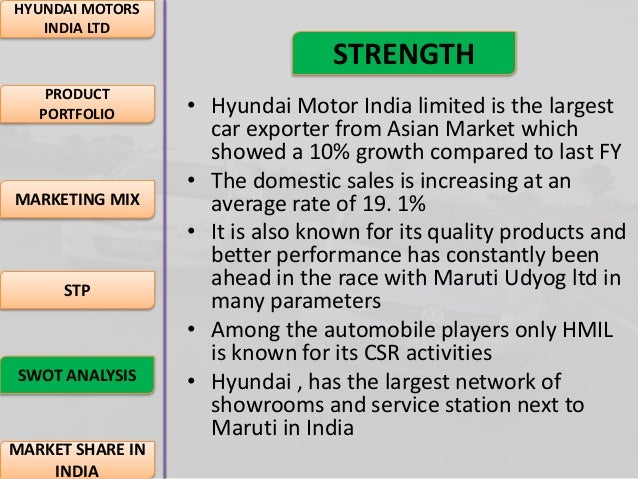marketing mix of hyundai motors china Share on facebook, opens a new window share on twitter, opens a new window share on linkedin share by email, opens mail client in india there are 100 people per vehicle, while this figure is 82 in china it is expected that indian automobile industry will achieve mass motorization status by 2014.