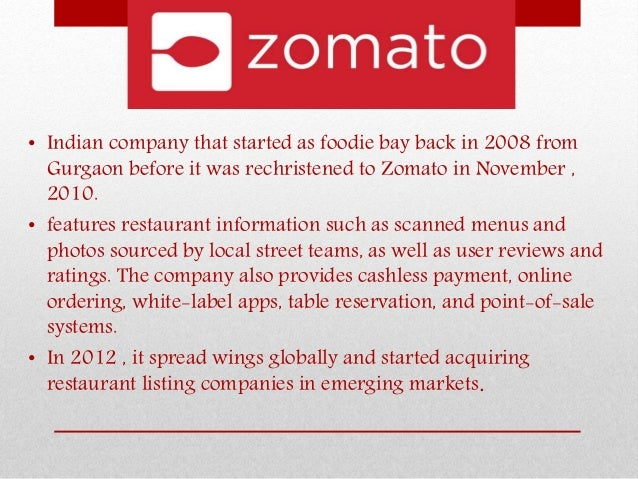 All about Zomato Slide 2