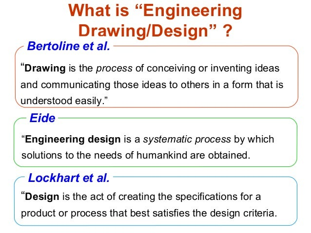"""What is """"Engineering Drawing/Design"""" ? """"Engineering design is a systematic process by which solutions to the needs of huma..."""