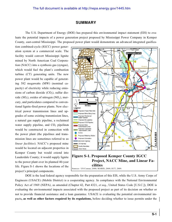 The full document is available at http://nepa.energy.gov/1445.htm                                                    SUMMA...