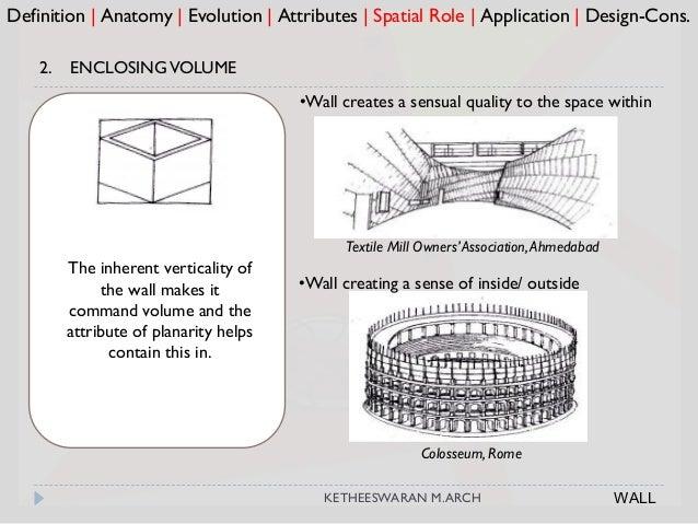 Colosseum, Rome Definition   Anatomy   Evolution   Attributes   Spatial Role   Application   Design-Cons. 2. ENCLOSINGVOLU...