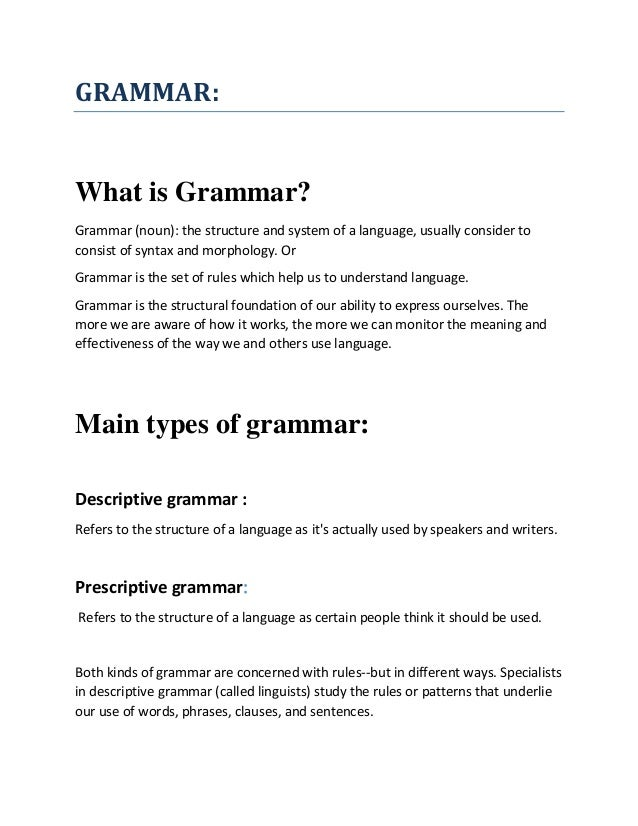 Glossary of Grammatical and Rhetorical Terms