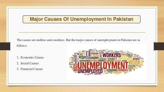 Causes of unemployement in pakistan