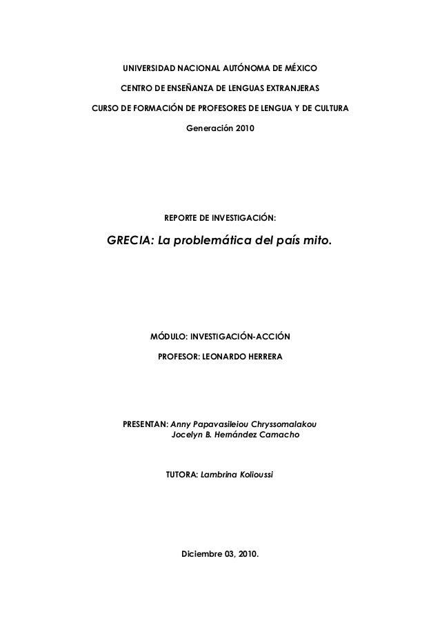 UNIVERSIDAD NACIONAL AUTÓNOMA DE MÉXICO      CENTRO DE ENSEÑANZA DE LENGUAS EXTRANJERASCURSO DE FORMACIÓN DE PROFESORES DE...