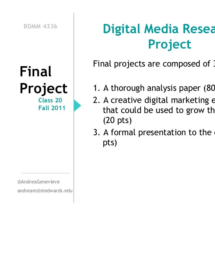 BDMM 4336                          Digital Media Research                                  Project                        ...