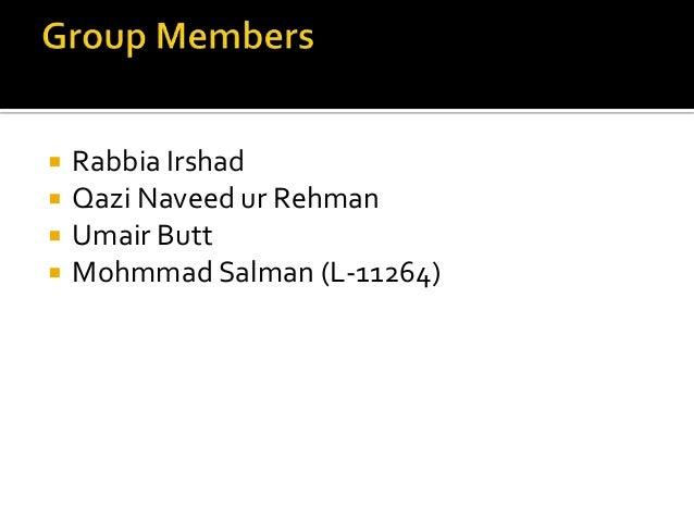  Rabbia Irshad Qazi Naveed ur Rehman Umair Butt Mohmmad Salman (L-11264)